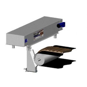Próbobiernia wiaderkowa - pobór próbek biomasy/węgla z przesypu podajnika taśmowego