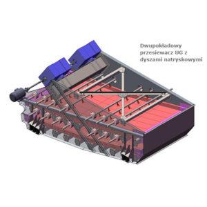 Przesiewacz wibracyjny do siania na mokro lub na sucho typu UG