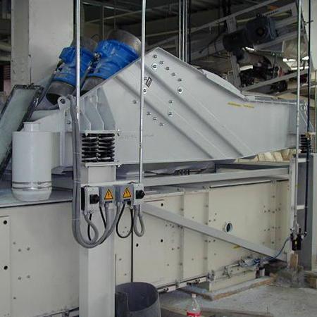 Conveying-screening gutter