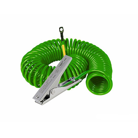 Zacisk ze stali nierdzewnej do pracy w umiarkowanych warunkach wraz z kablem spiralnym w osłonce hytrelowej