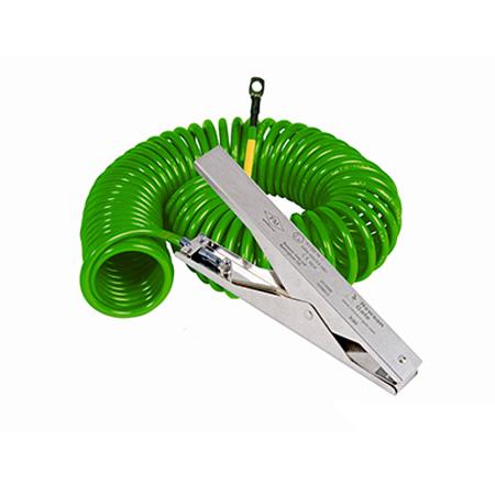 Zacisk ze stali nierdzewnej do pracy w trudnych warunkach wraz z kablem spiralnym w osłonce hytrelowej