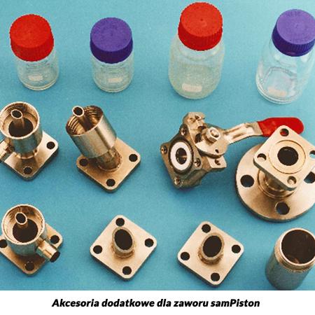Zawór tłokowy do poboru próbek cieczy ze zbiorników i rurociągów - samPiston
