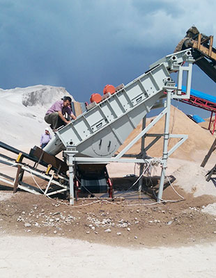 przesiewacz odwadniajacy piasek